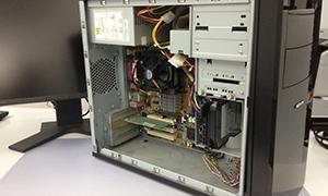 computer seiten-deckel geöffnet